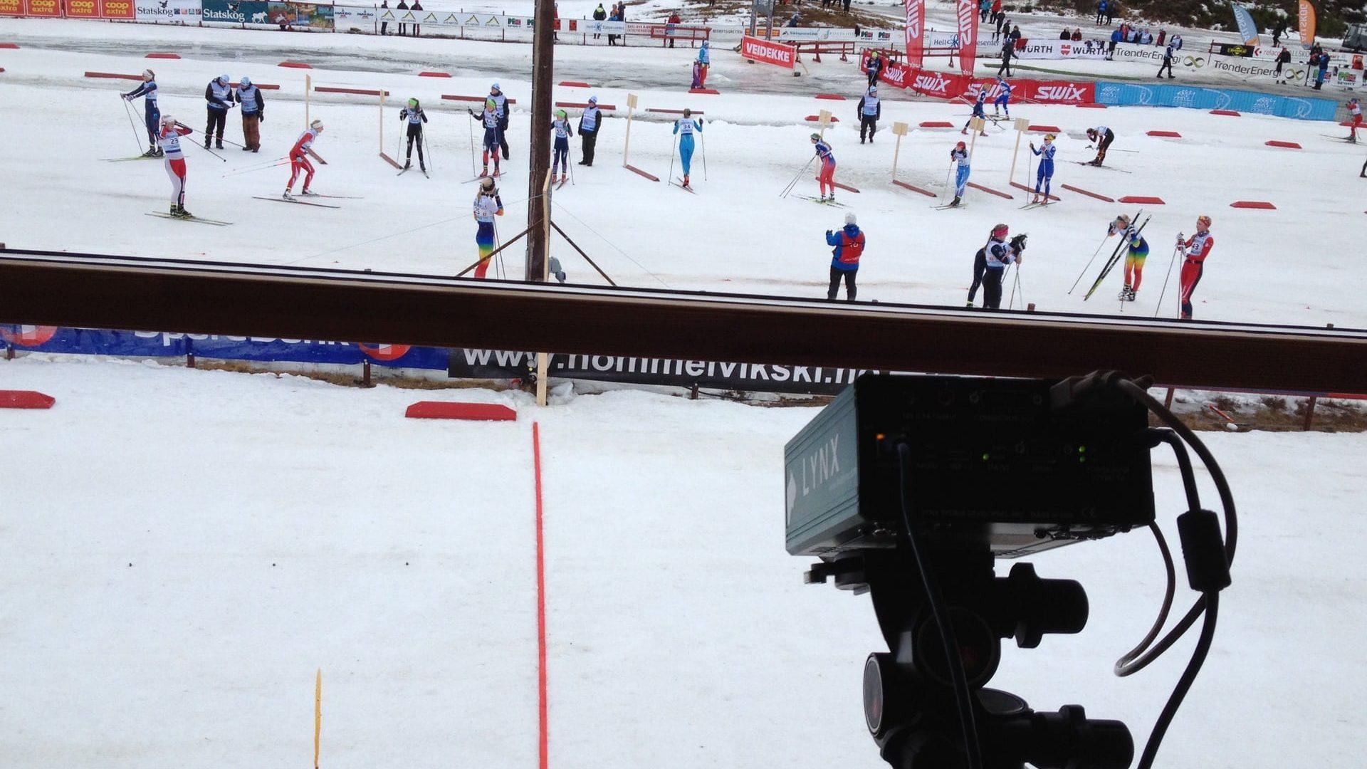 Målfoto på Jr NM ski 2015