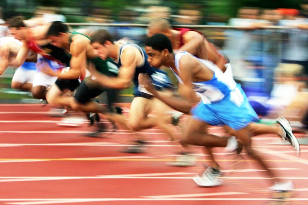 friidrett 100 meter start