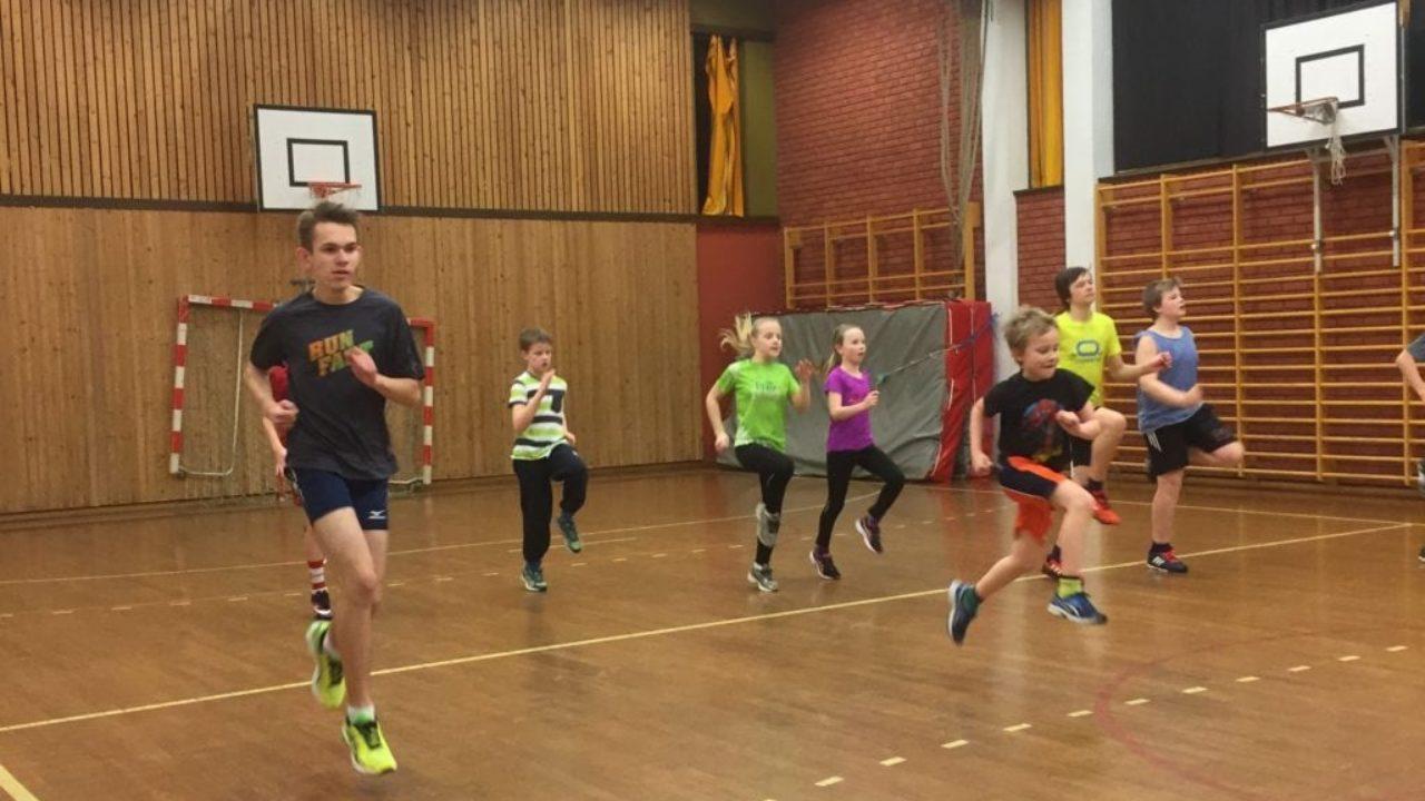 Trening i idrettsbygget